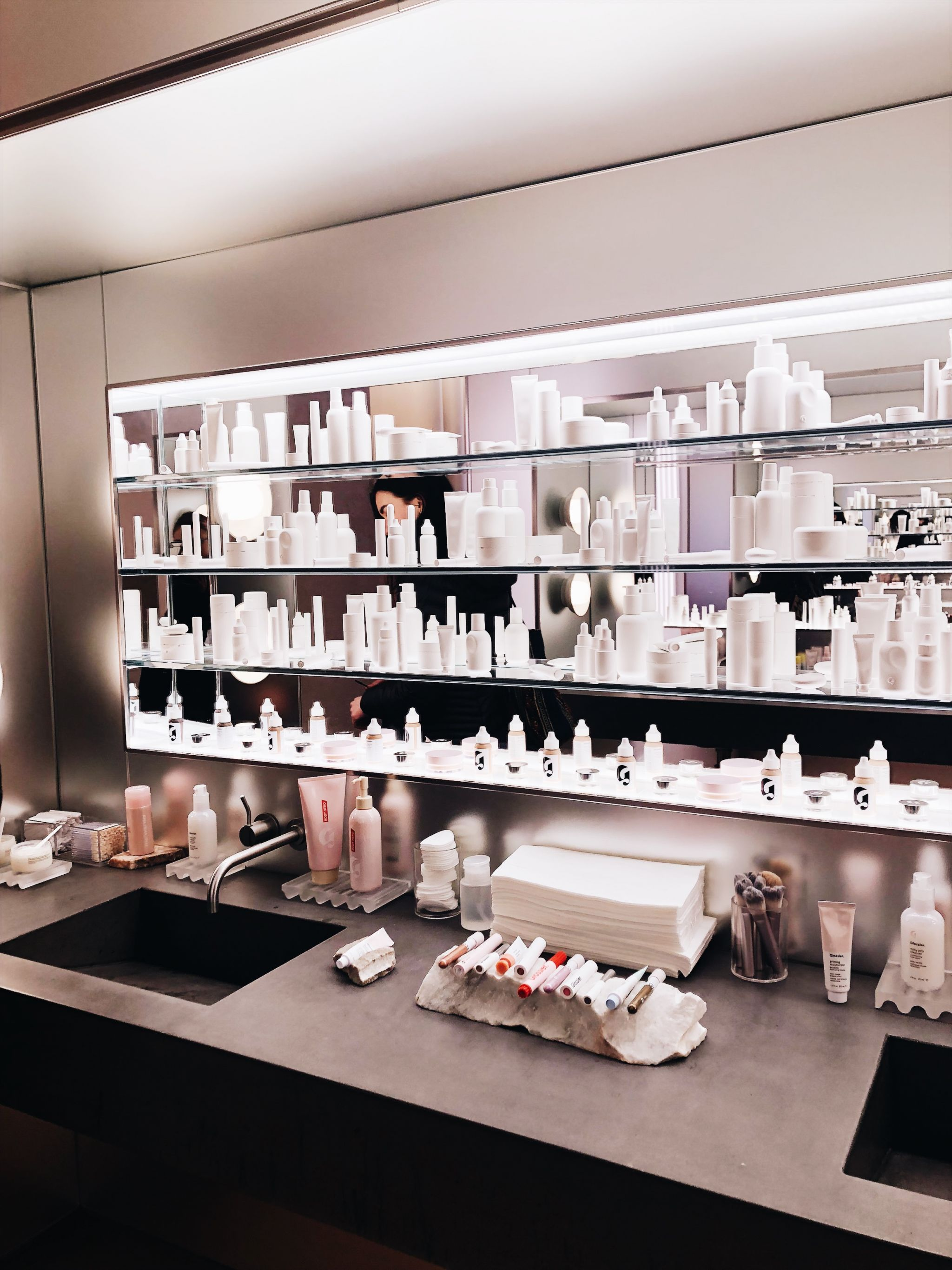 Most Instagrammable Spots in SoHo - glossier flagship store