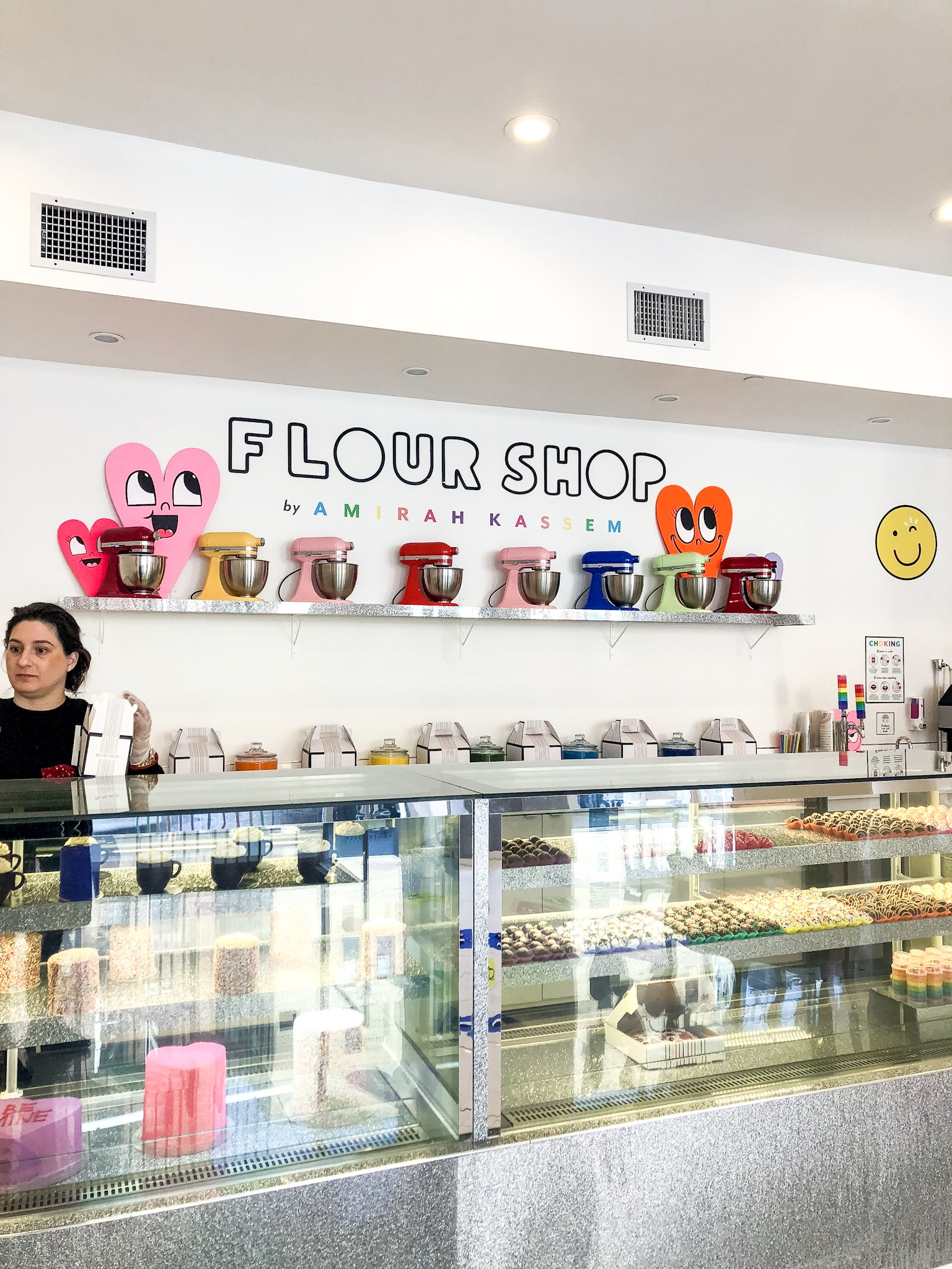 Most Instagrammable Spots in SoHo - flour shop nyc rainbows and hearts cake balls