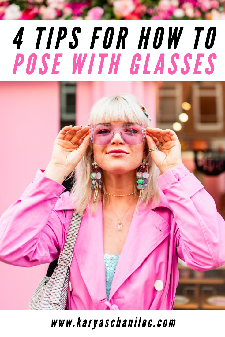 How to pose with glasses