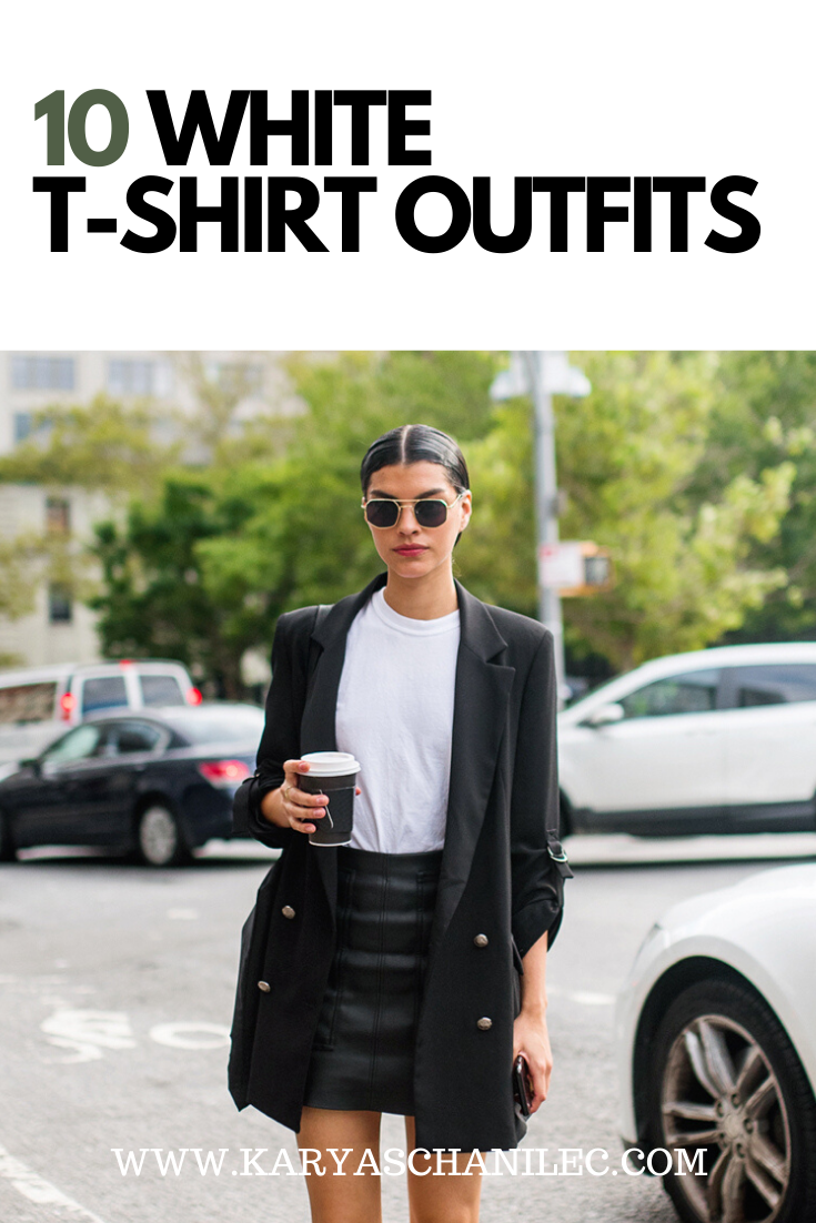 10 White T-Shirt Outfits
