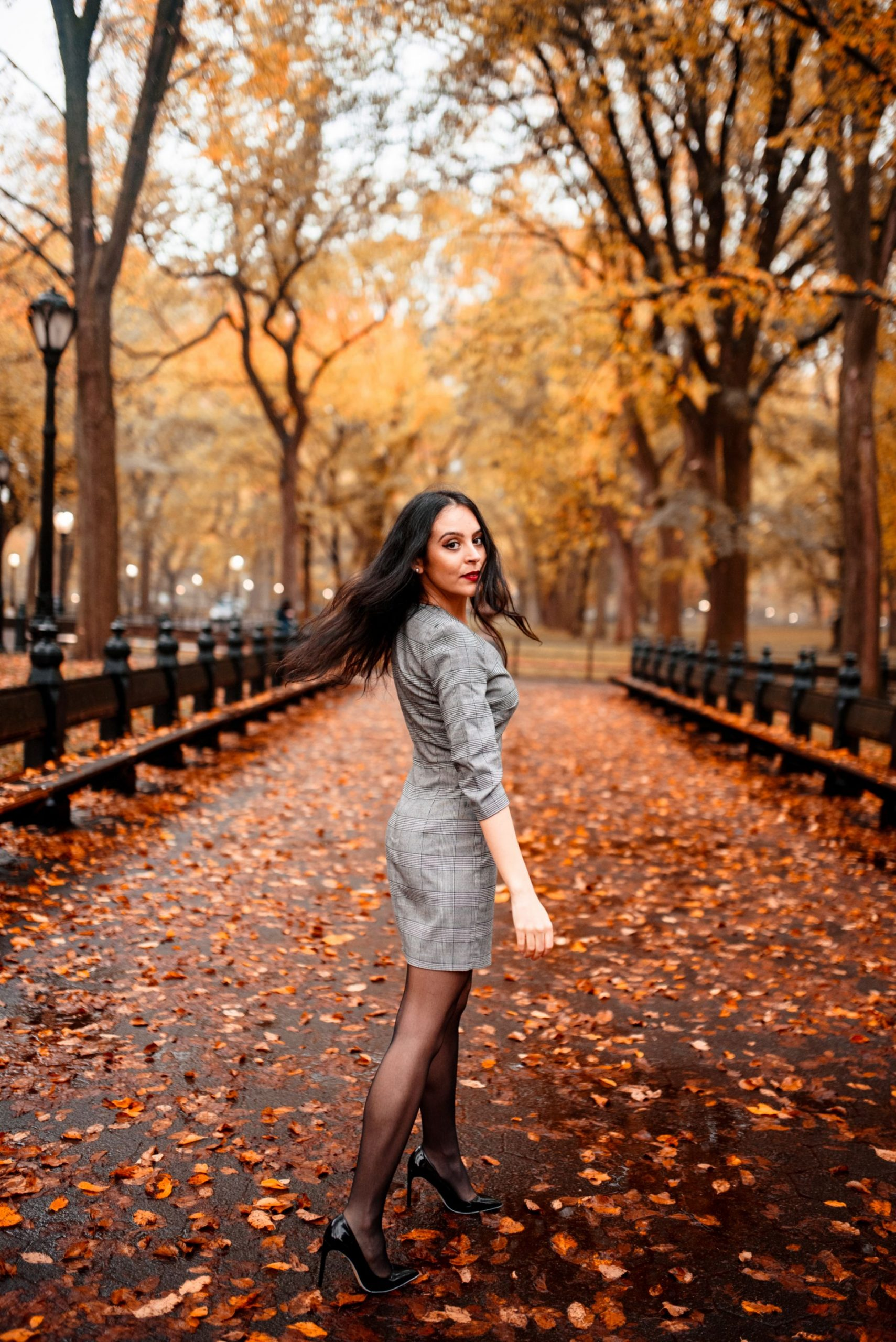 Central Park The Mall fall NYC photoshoot location