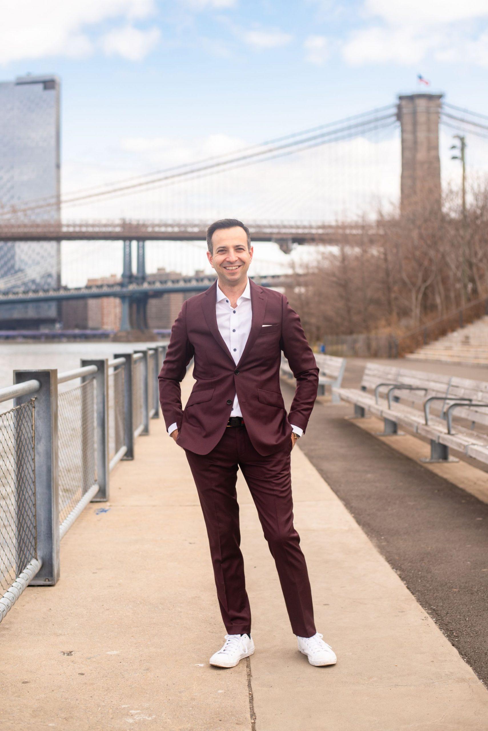 Brooklyn Bridge photoshoot inspiration - Karya Schanilec Photography
