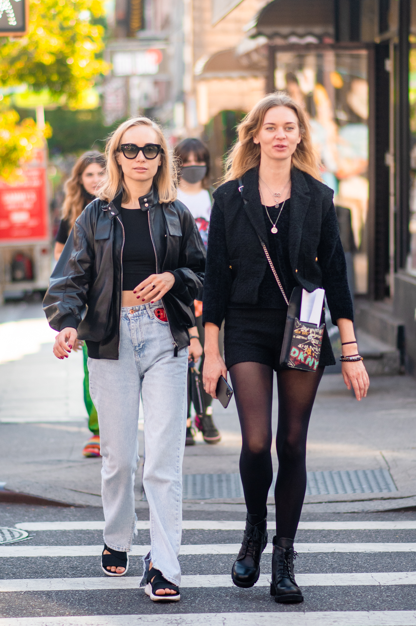 NYC street style fall outfit idea - women wearing all black fall outfits- Karya Schanilec NYC fashion photographer
