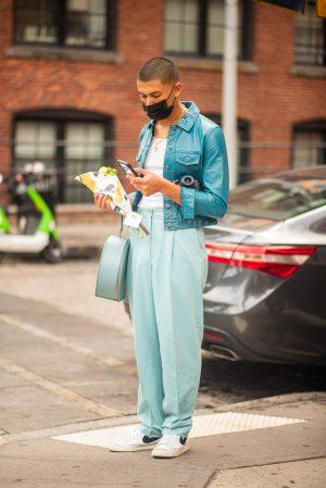 Tanya Taylor NYFW men's street style - Karya Schanilec Photography NYC fashion photographer