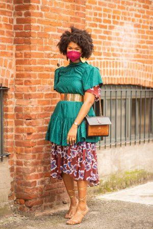 Tanya Taylor NYFW street style - Karya Schanilec Photography NYC fashion photographer