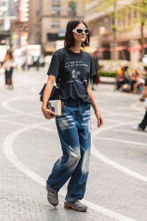 Off duty model aesthetic at Pat Bo New York Fashion Week street fashion outfits - Karya Schanilec Photography NYC fashion photographer