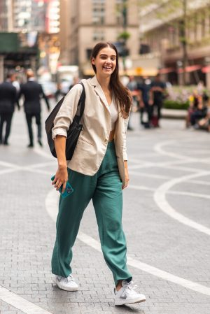Off duty model aesthetic outfit at Pat Bo New York Fashion Week street fashion outfits - Karya Schanilec Photography NYC fashion photographer