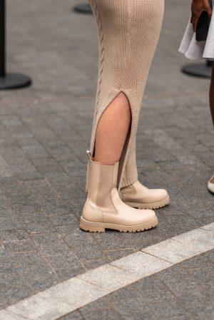 Lug boots details at Pat Bo New York Fashion Week street fashion outfits - Karya Schanilec Photography NYC fashion photographer