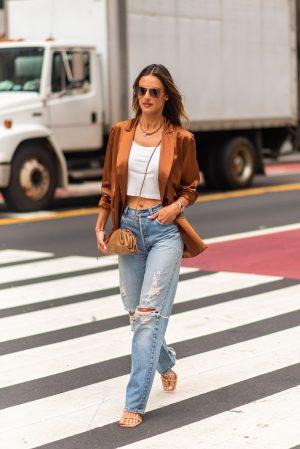 Alessandra Ambrosio at Pat Bo New York Fashion Week street fashion outfits - Karya Schanilec Photography NYC fashion photographer