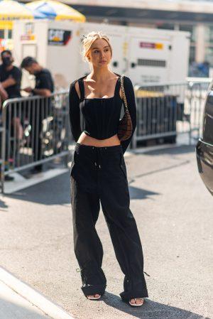 Alexis Ren at Dundas x Revolve New York Fashion Week street style - Karya Schanilec Photography NYC fashion photographer