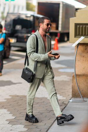 Men's street fashion at Dundas x Revolve New York Fashion Week street style - Karya Schanilec Photography NYC fashion photographer