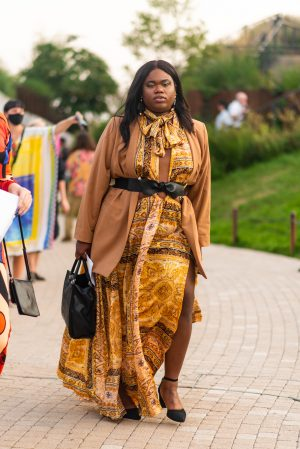 Jari Jones at Proenza Schouler NYFW street style - Karya Schanilec Photography NYC fashion photographer