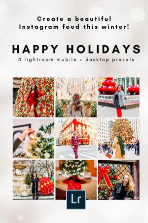 Bright and colorful Lightroom preset for Christmas, winter holidays Lightroom preset bundle - KaryaPresets